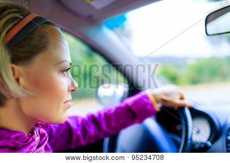 Car Driving Woman
