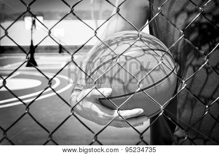 young man with a basketball