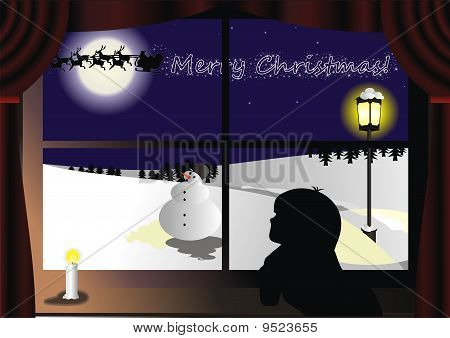Window Santa.eps