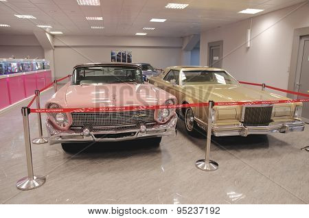 Collection of Lincoln Continental in the Sochi Auto Museum