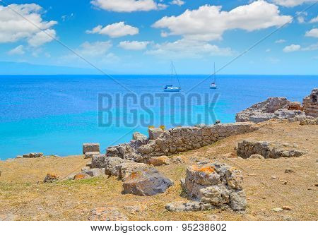 Boat By The Coast In Tharros