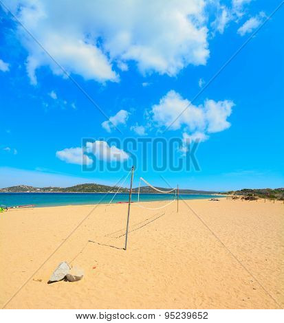 Beach Volley Net In Porto Pollo Shore
