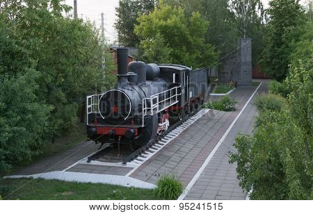 Monument Of Old Steam Locomotive, Operated During The First And Second World Wars
