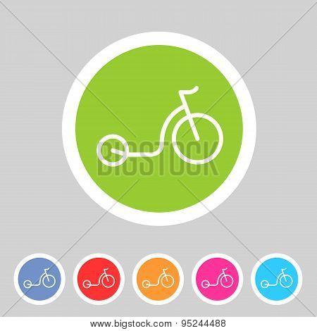 kick bike scooter flat icon web sign symbol logo label