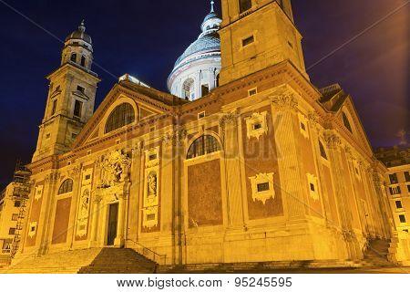 Santa Maria Assunta Di Carignano Church In Genoa, Italy