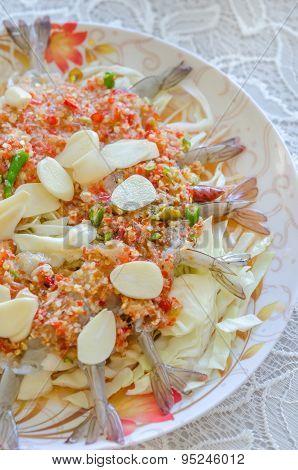 Raw Shrimp In Spicy Fish Sauce