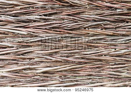 Abstract Wooden Background Of Branches