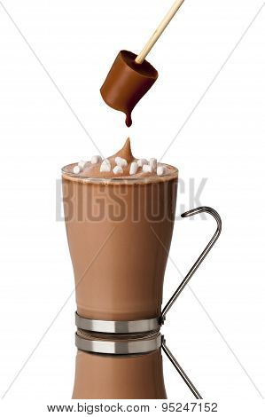 Hot Chocolate Drink Made With A Stirrer
