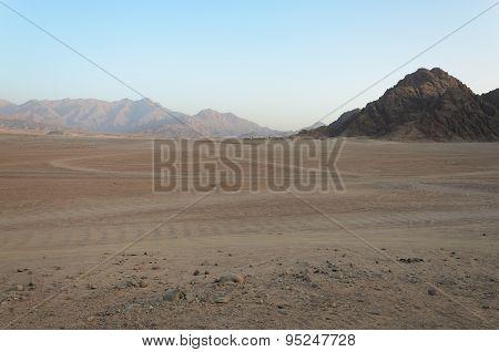Desert In Africa. Atv Safaris. Excursions In Egypt
