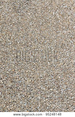 Background pea gravel brown