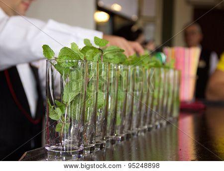 Mojito on the bar