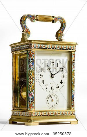 Brass Carriage Clock antique old