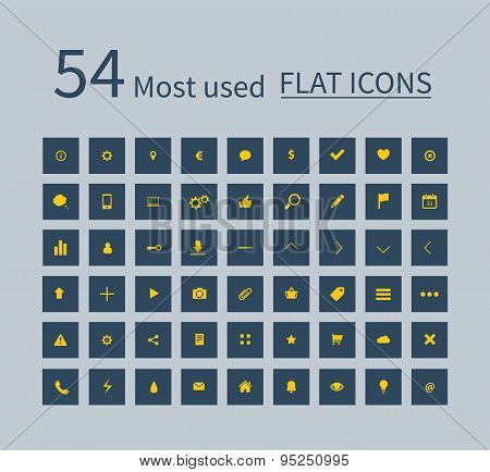 Flat Ui Kit Set Icons For Webdesign Or Mobile Design