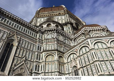 Cathedral Of Saint Mary Of The Flower In Florence, Italy