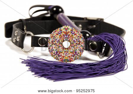 Donut Ball Gag And Whip