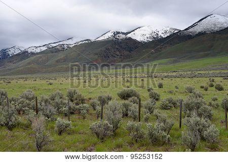 Salt River Range Along U.s. Route 89 In Western Wyoming