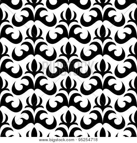Vector Seamless Wallpaper In Retro Style