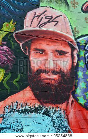 Street art Montréal man