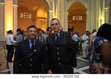 FDNY members at Pride reception