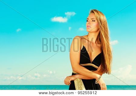 Beautiful Summer Girl Portrait Outdoor