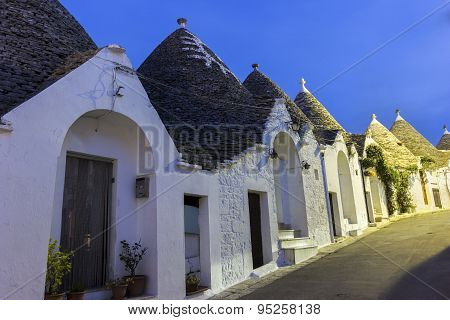 The Trulli Of Alberobello In Italy