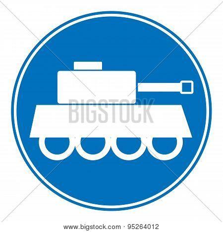 Panzer Symbol Button.