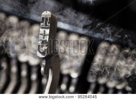 T Hammer - Old Manual Typewriter - Mystery Smoke