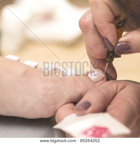 Female pedicure