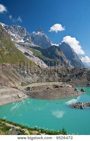 Miage Lake - Vertical Composition