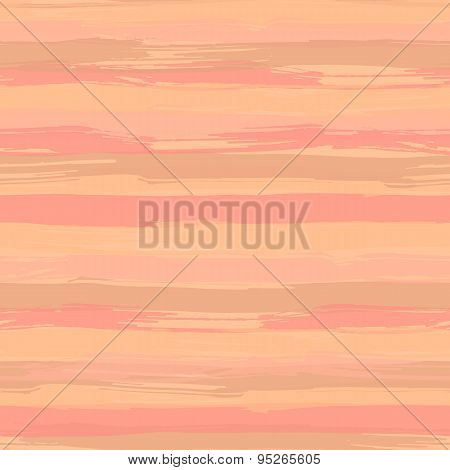 Vector seamless pattern with brush strokes. Striped creative background in shades of pink and beige.