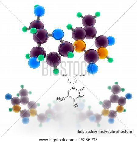 Telbivudine Molecule Structure