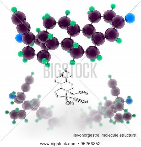 Levonorgestrel Molecule Structure