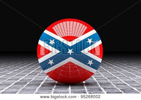 American Confederate Flag Sphere