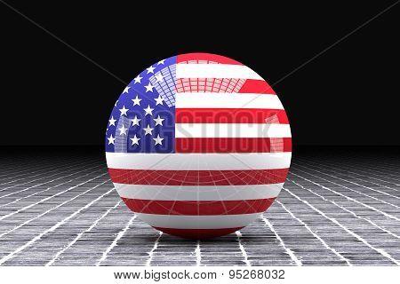 Usa Flag Sphere