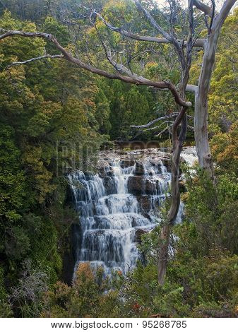 Waterfall In Overland Track - Tasmania (australia)