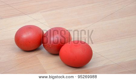 Picture of a Red Easter egg. Holyday concept