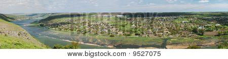 Rural Landscape Of River Dniester And Unrecognized Republic Of Transdniestria