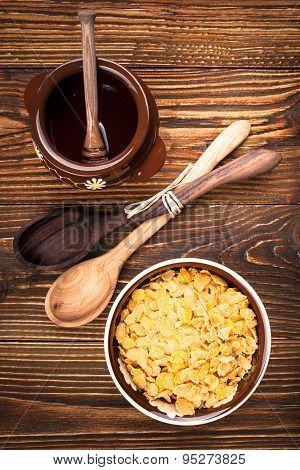 Corn Flakes Honey Pot