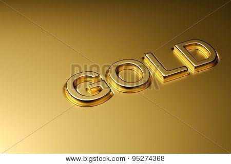 Gold word emboss