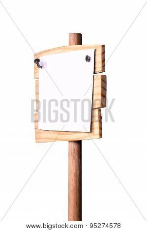 Extended Sideways Wooden Pointer