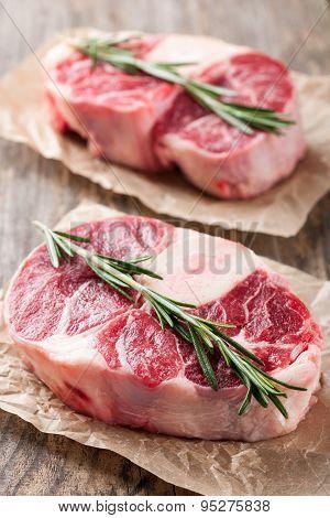 Raw Beef T-bone Steak