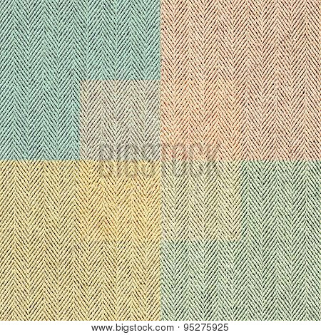 The Multi-colored Tweed Fabric. Seamless Texture In Retro Style.