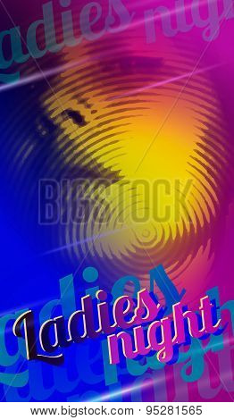 Ladies night flyer design