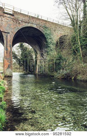 Stone Railway Bridge In England