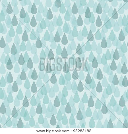Seamless Background With Rain Drops