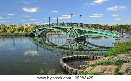 Pedestrian bridge in Tsaritsyno, Moscow