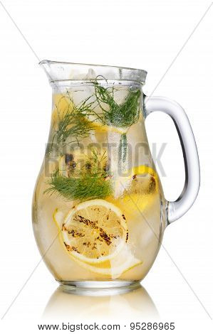 Grilled Lemon Dill Detox Water Pitcher