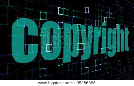 Copyright Word On Digital Background