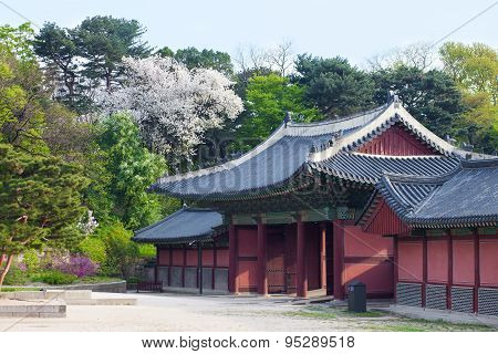 Korean Style Houses In Changdeokgung Palace In Seoul, Korea.
