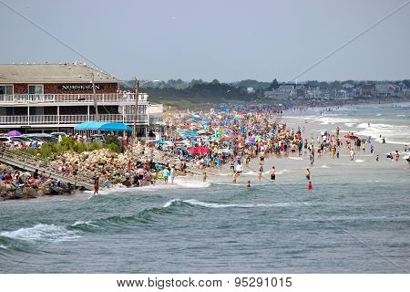 Crowded Ogunquit Beach
